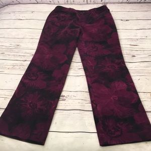 Dana Buchman corduroy floral jeans